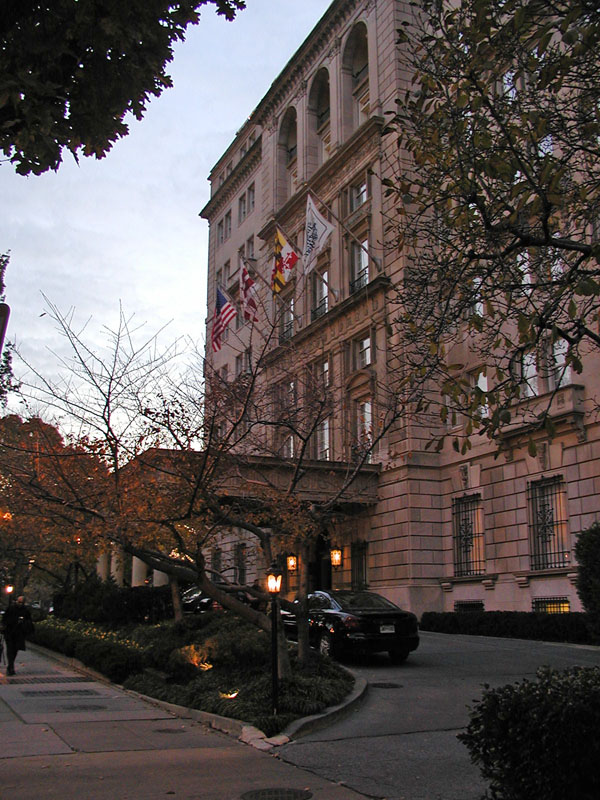 Front of Hay Adams Hotel