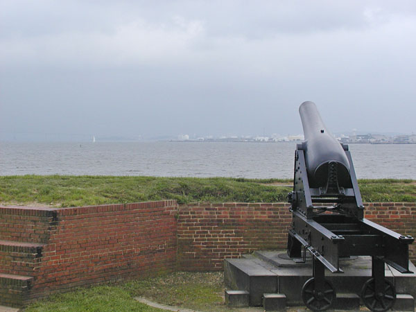 Looking out on the bay from Fort McHenry