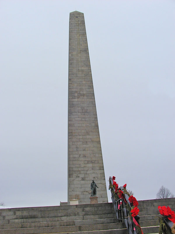 Monument for Bunker Hill at Breeds Hill
