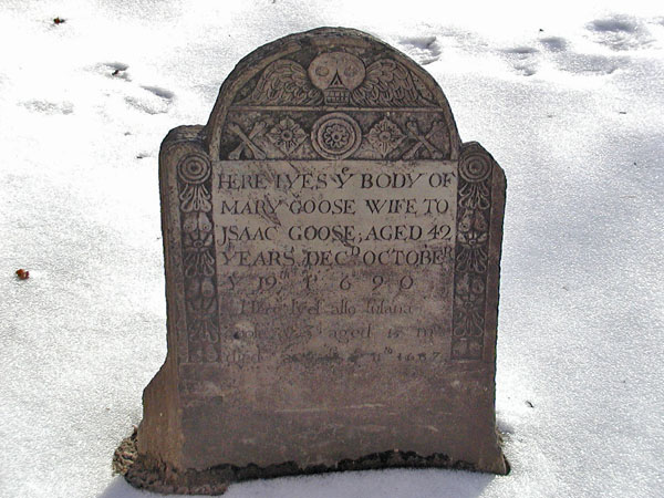 Mary Goose's grave