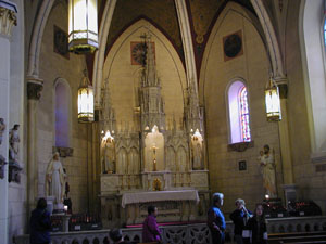 Loretto Chapel altar area
