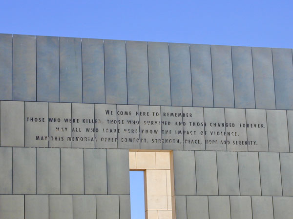 Oklahoma City Memorial Wall