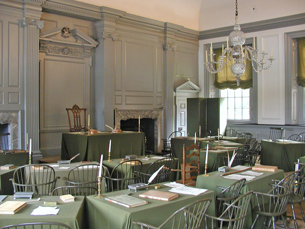 Room where Decleration of Independence was signed