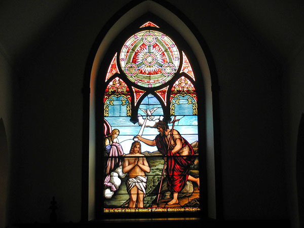 Stained-glass window from Trinity Episcopal Church (1858)